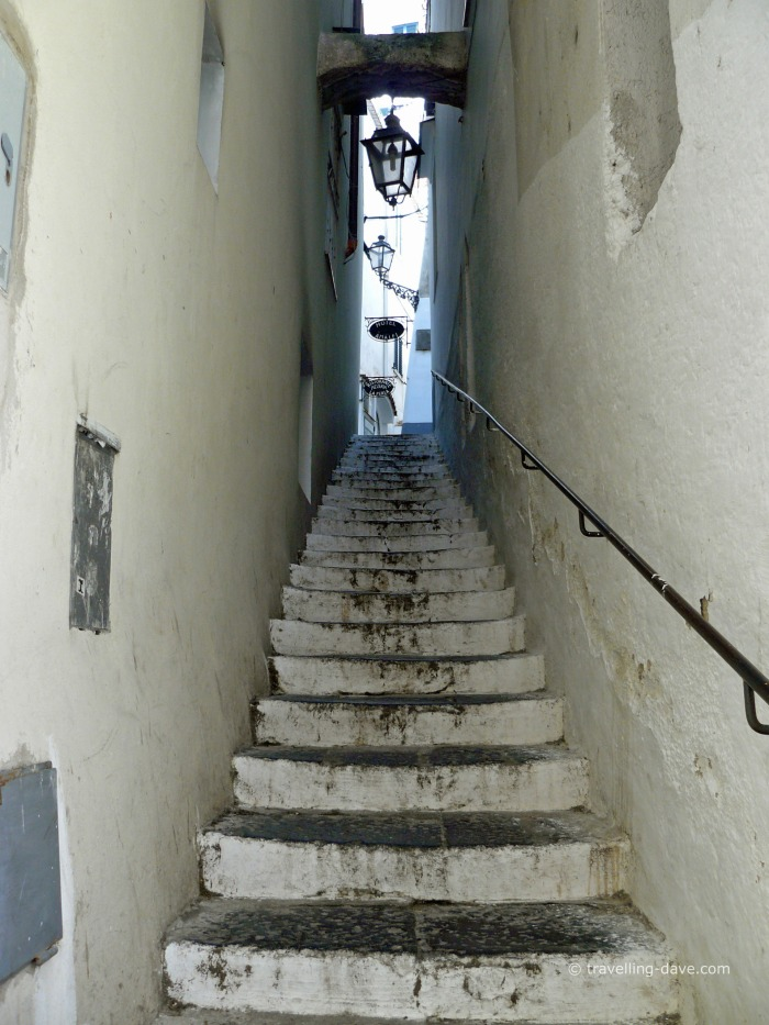 "View of one of Amalfi's ""salita"""