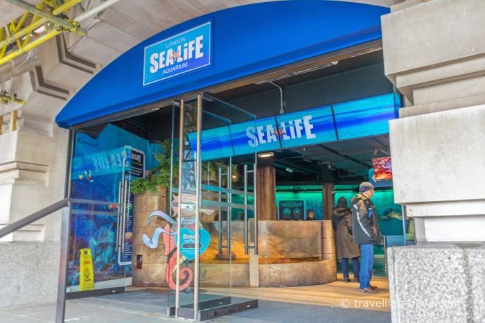 View of the entrance to SEA LIFE London Aquarium