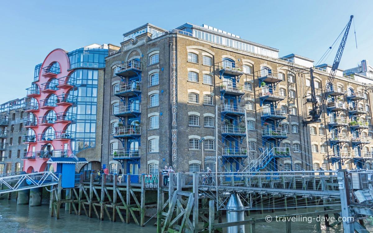 View of flats at London's Shad Thames