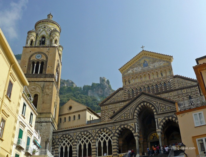 Looking up at Amalfi Cathedral