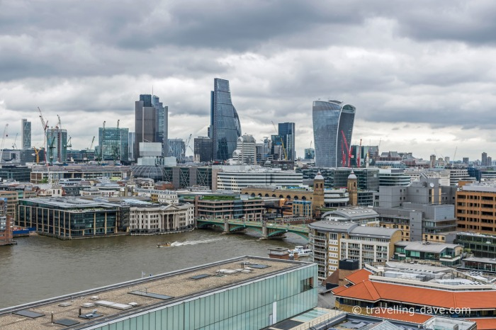 Buildings of the City of London seen from Tate Modern's Switch House