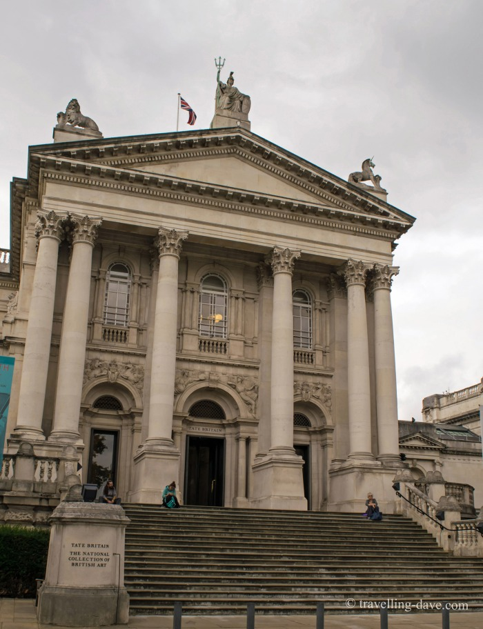 View of the entrance to Tate Britain