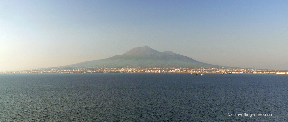 View across the sea of Mount Vesuvius