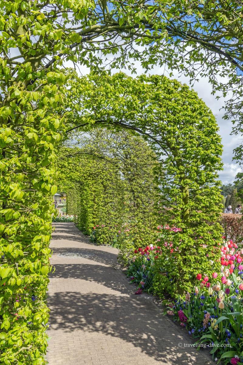 One of Keukenhof's inspirational gardens