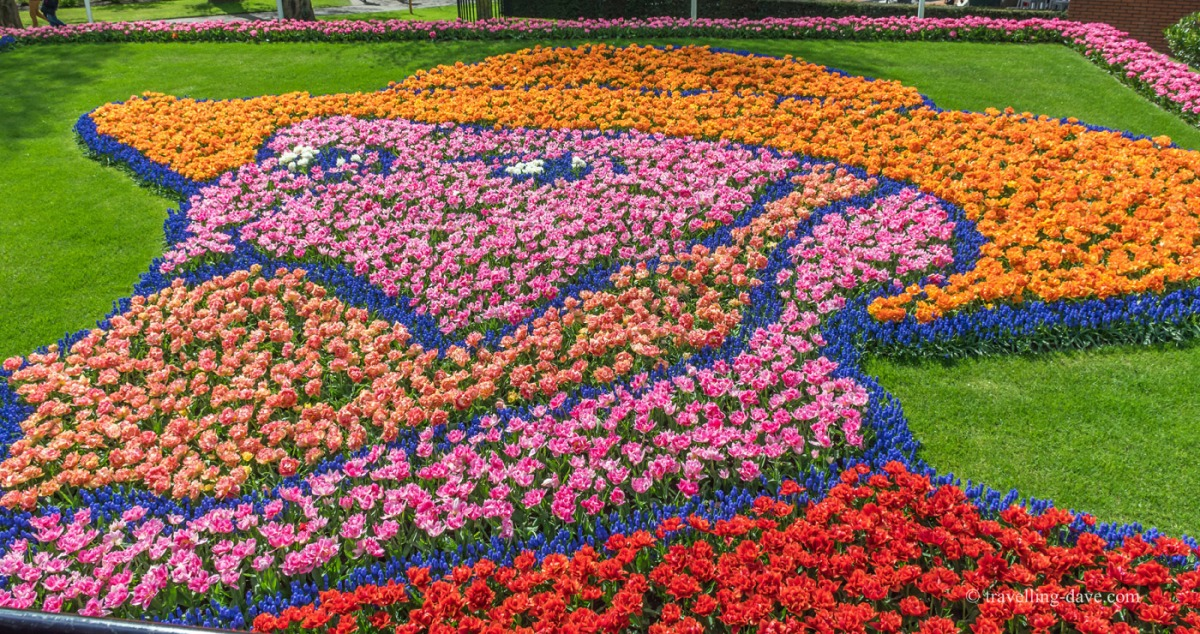 View of a portrait of Van Gogh made with flowers