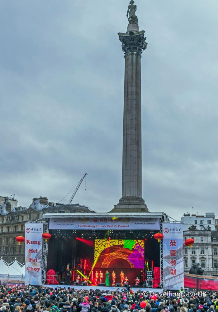 Trafalgar Square stage for Chinese New Year