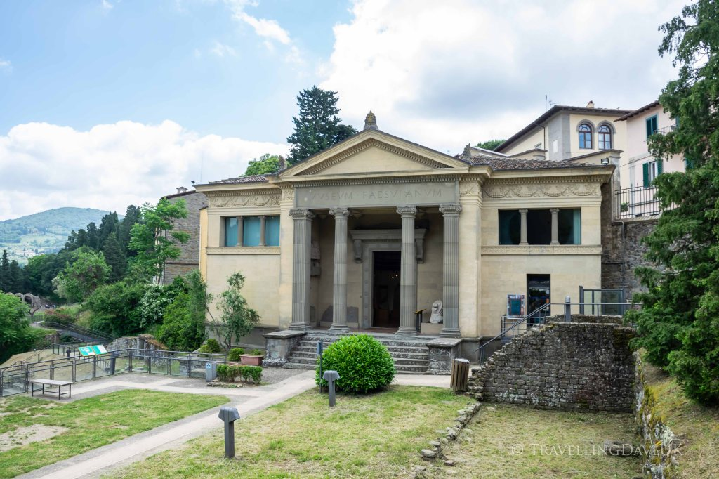 View of the Archaeological Museum in the town of Fiesole in Italy