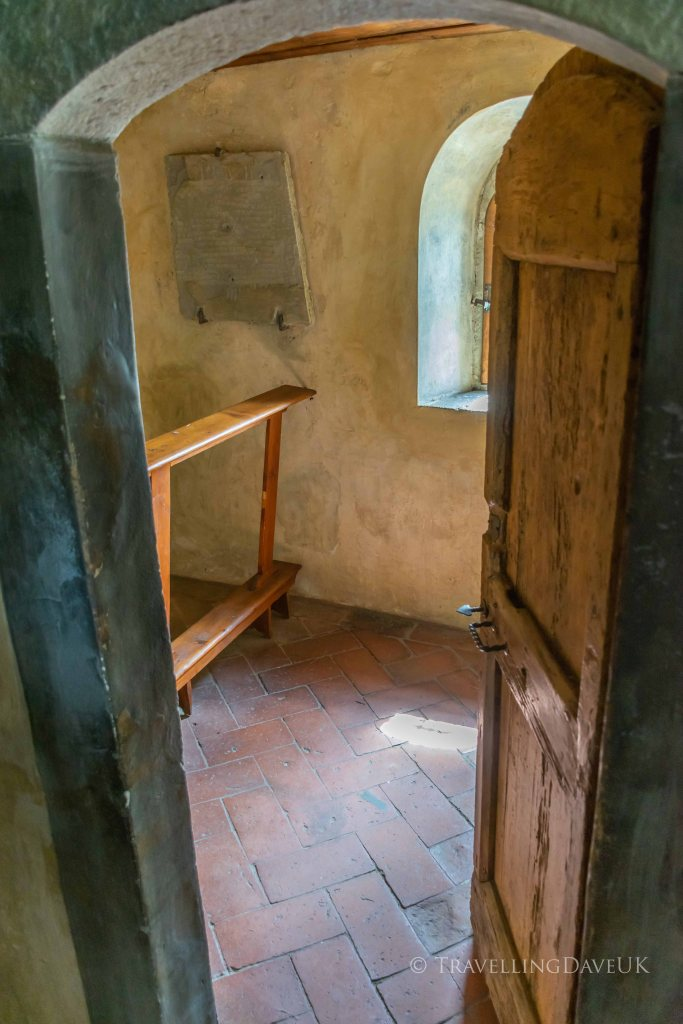 View of a monk cell at Saint Francis Convent in Fiesole in Italy