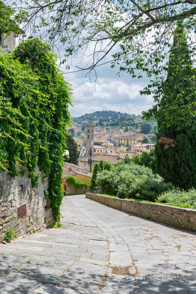 Panoramic view of the town of Fiesole in Italy