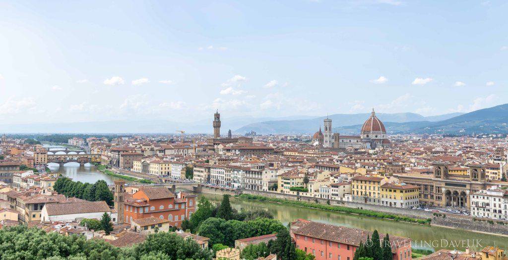 Florence panoramic view from Piazzale Michelangelo