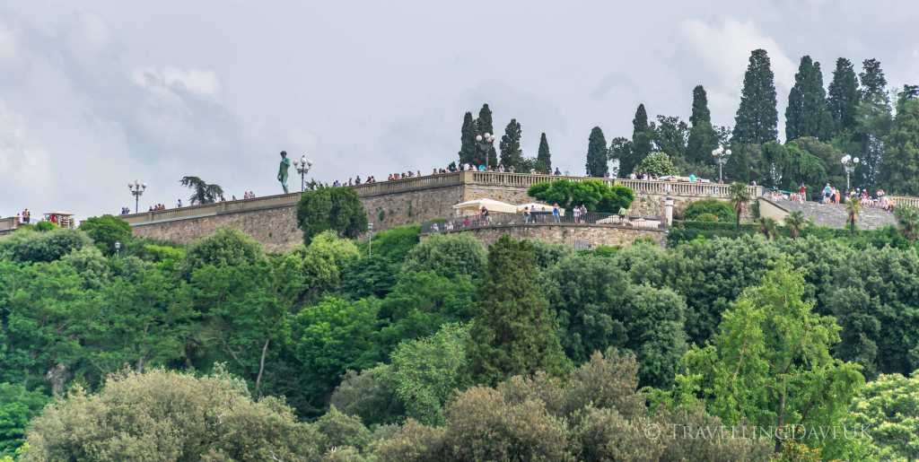 Panoramic view of Piazzale Michelangelo in Florence in Italy