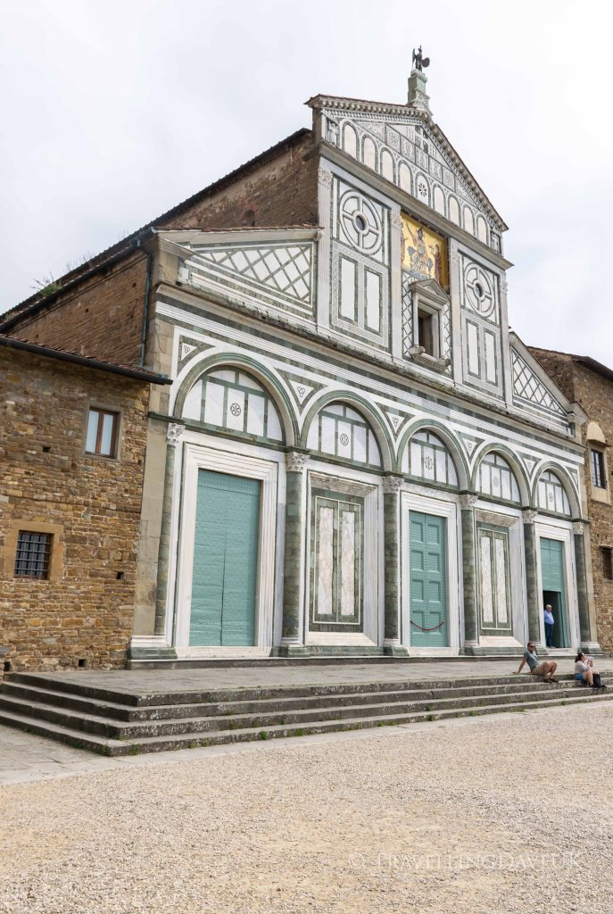 View of San Miniato al Monte church in Florence in Italy