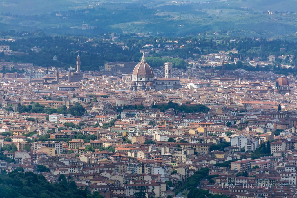 Panoramic view of Florence from the town of Fiesole in Italy