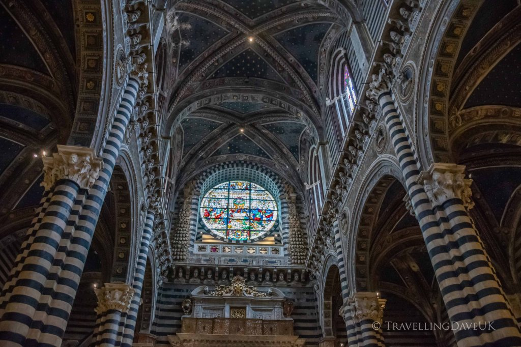 A view from inside Siena Cathedral in Tuscany in Italy