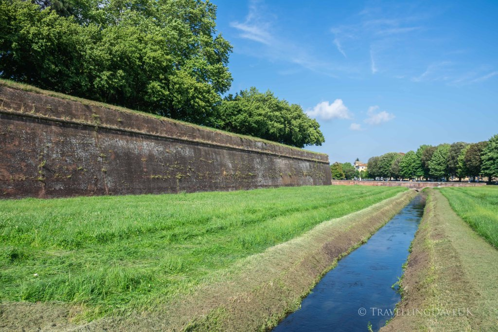 View of Lucca City Walls in Italy