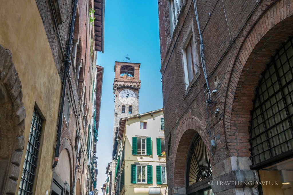 View of Lucca Clock Tower in Italy