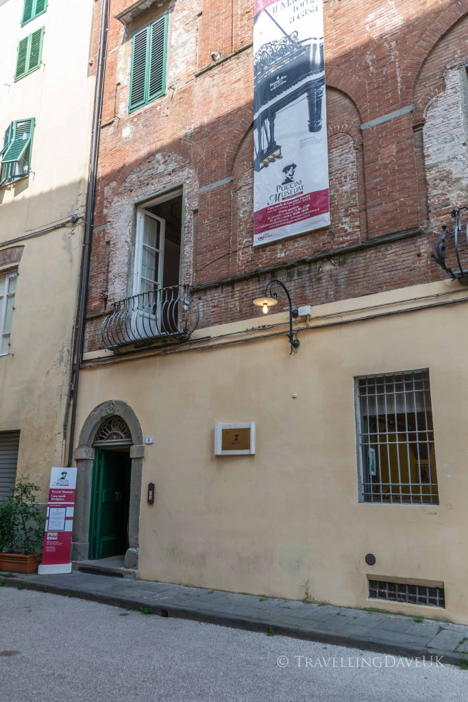 View of the building housing the Puccini Museum in Lucca in Italy
