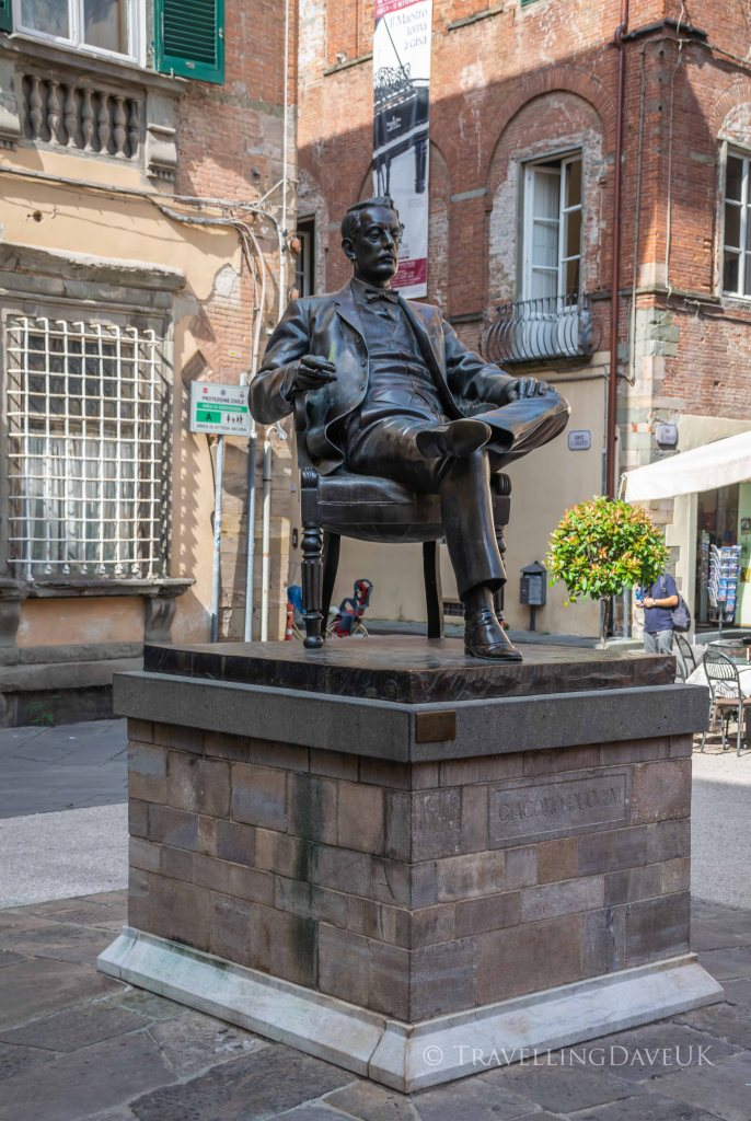 Giacomo Puccini statue in Lucca in Italy