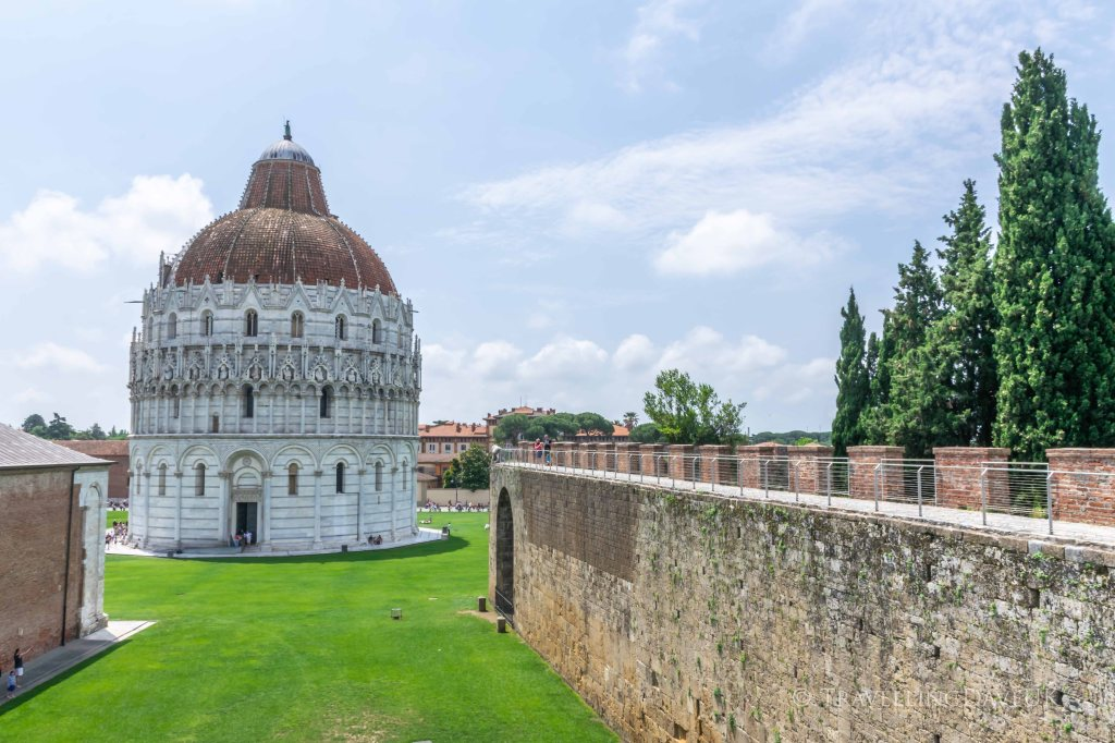 Pisa Baptistery seen from the City Walls walk