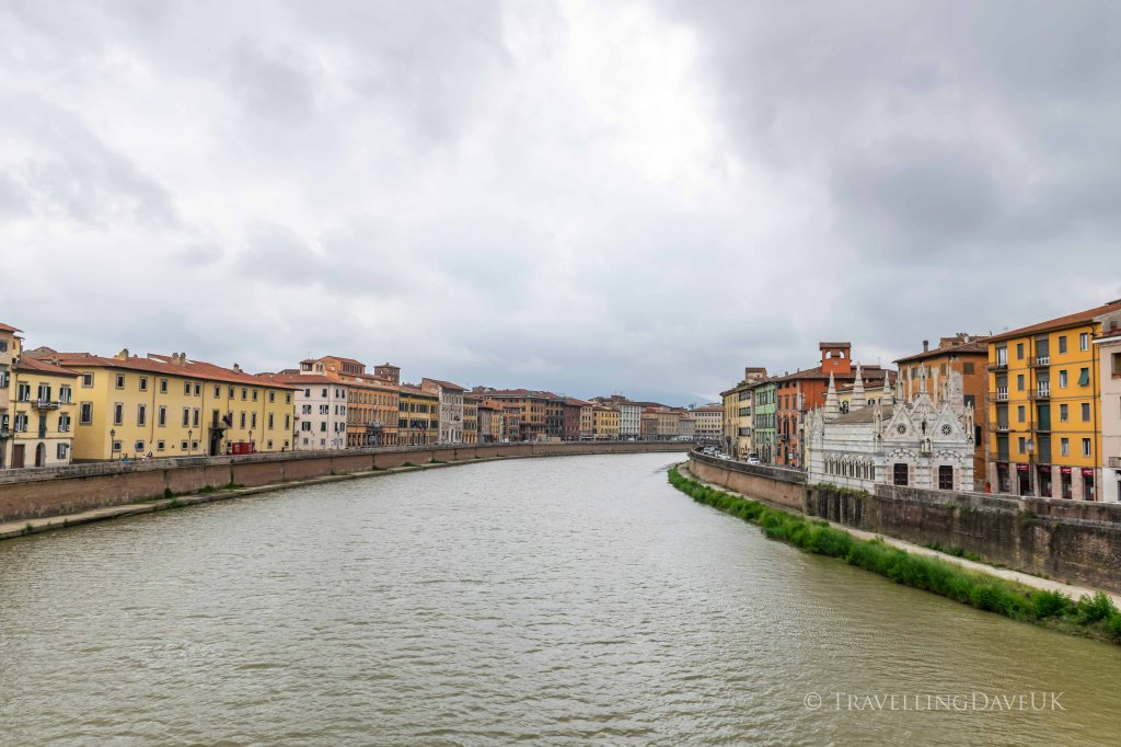 View of the river Arno in Pisa in Italy
