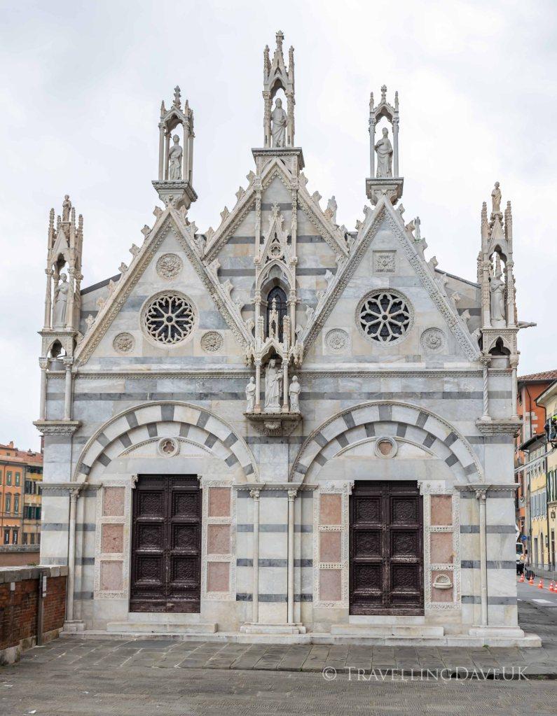 View of Santa Maria della Spina church in Pisa in Italy