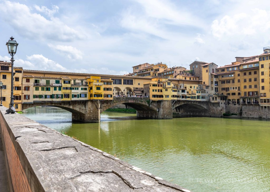 View of Ponte Vecchio in Florence in Italy