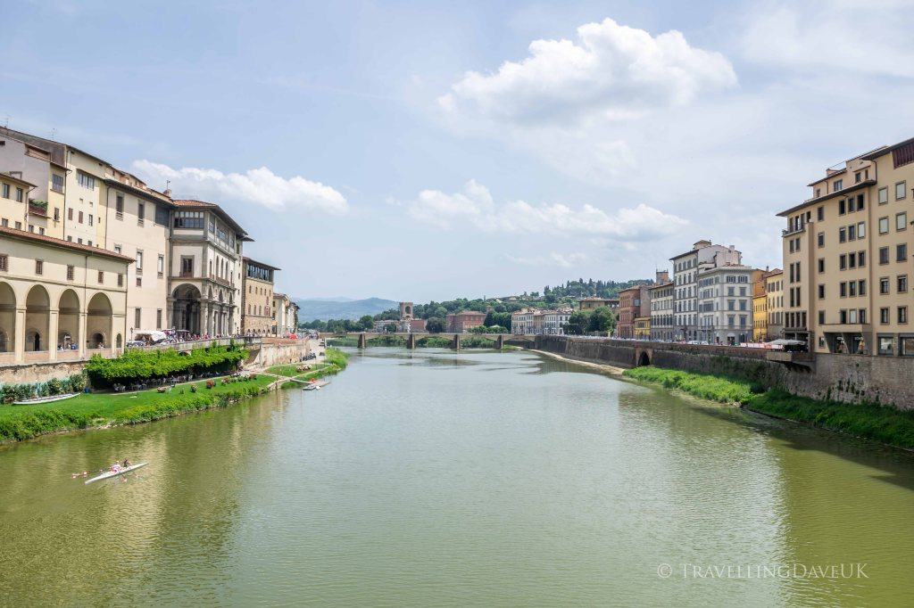 View of the river Arno in Florence in Italy