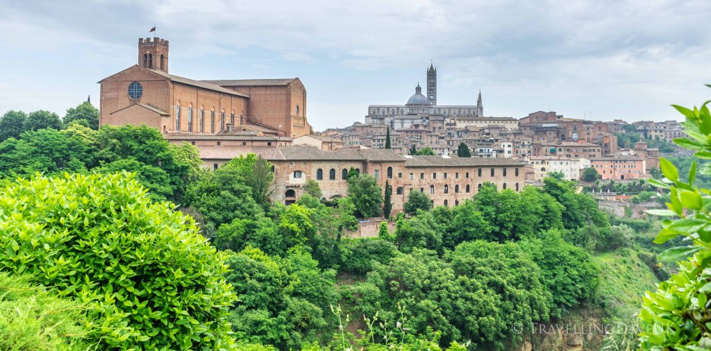 A panoramic view of the city of Siena in Italy